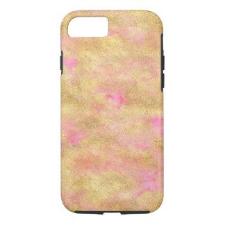 Gouden Roze Waterverf Glitz iPhone 8/7 Hoesje