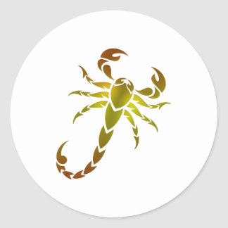 Gouden Schorpioen Ronde Sticker