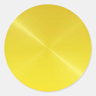 gouden shinning ziet eruit ronde sticker