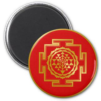 Gouden Shree Yantra Magneet
