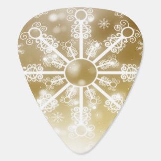 Gouden Sneeuwvlok Gitaar Plectrum 0