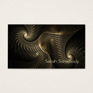 Gouden Spiraalvormig Fractal van de Draad Art. Visitekaartjes