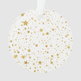 Gouden Stars2 - Zuiver Wit Ornament