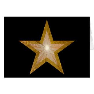 Gouden Ster twee de kaartzwarte van toongroeten Kaart