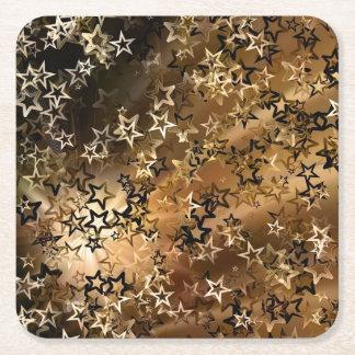 Gouden Sterren Vierkante Onderzetter