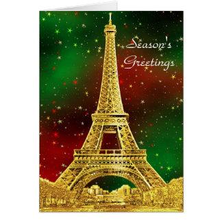 Gouden Sterrige Kerstmis van de Horizon van Parijs Kaart