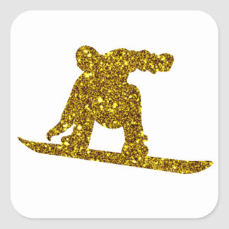 Gouden Sticker Snowboard