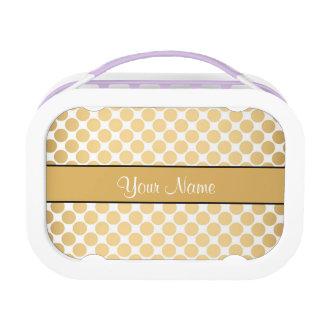 Gouden Stippen op Witte Achtergrond Lunchbox