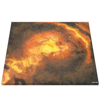 Gouden t-Rex Canvas Afdruk