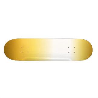 Gouden textuur persoonlijk skateboard