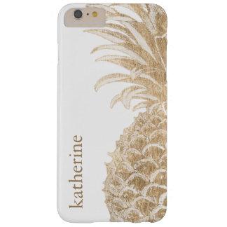 Gouden Tropische Pinneapple Barely There iPhone 6 Plus Hoesje