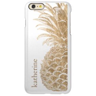 Gouden Tropische Pinneapple Incipio Feather® Shine iPhone 6 Plus Hoesje