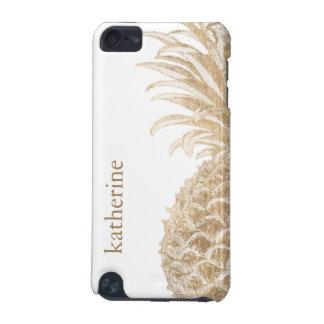 Gouden Tropische Pinneapple iPod Touch 5G Hoesje