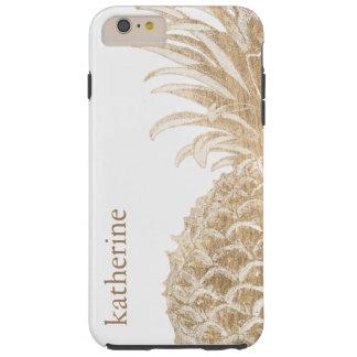 Gouden Tropische Pinneapple Tough iPhone 6 Plus Hoesje