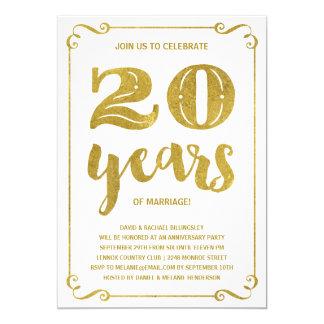 Gouden Typografie | Faux Jubileum van de Folie Kaart