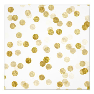 Gouden van Bokeh van het Lovertje van de Folie van 13,3x13,3 Vierkante Uitnodiging Kaart