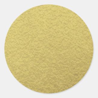Gouden van de Folie Textuur Als achtergrond Ronde Sticker