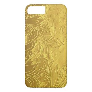 Gouden Verfijnd & Elegant In reliëf gemaakt iPhone 8/7 Plus Hoesje