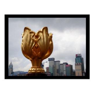 Gouden Vierkant Bauhinia Briefkaart