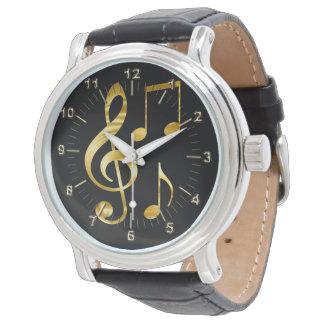 Gouden viool zeer belangrijke nota's horloge