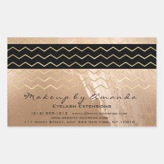 Gouden VIP van de Chevron van de Strepen van het Rechthoekige Sticker