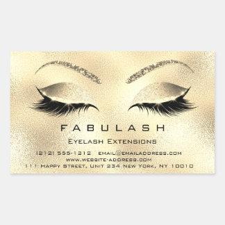 Gouden VIP van de Salon van de Schoonheid van de Rechthoekige Sticker