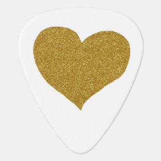 gouden wit hart, plectrum