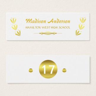 Gouden Wit van het Tussenvoegsel van het Jaar van Mini Visitekaartjes