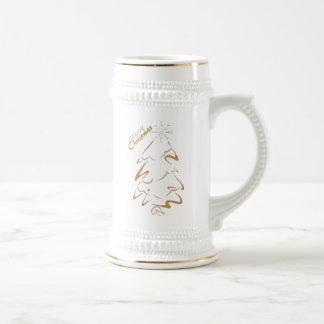 Gouden & Zilveren Kerstboom Bierpul