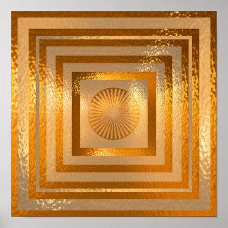 Gouden Zon Mandala - Vriendelijke groeten Poster