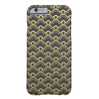 Gouden Zwart Gegratineerd Shells van de Folie Barely There iPhone 6 Hoesje