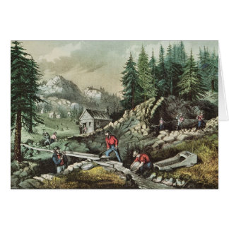 Goudwinning in Californië, 1871 Kaart