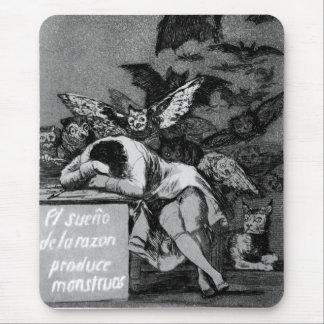 Goya de Slaap van Reden produceert Monsters Muismat