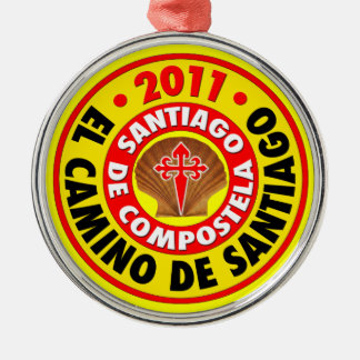 Gr Camino DE Santiago 2011 Zilverkleurig Rond Ornament