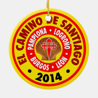Gr Camino DE Santiago 2014 Rond Keramisch Ornament