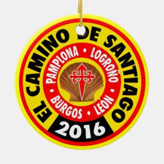 Gr Camino DE Santiago 2016 Rond Keramisch Ornament