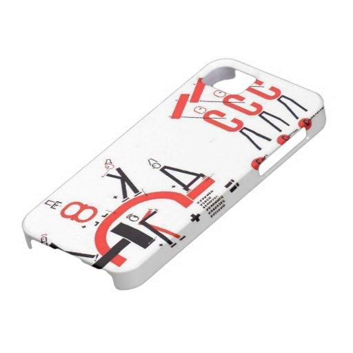 Gr Lissitzky- Vier (rekenkundige) acties iPhone 5 Hoesje