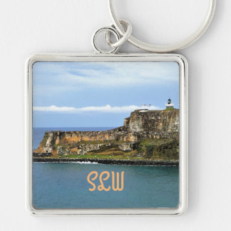 Gr Morro die San Juan Bay Monogrammed bewaakt Sleutelhanger