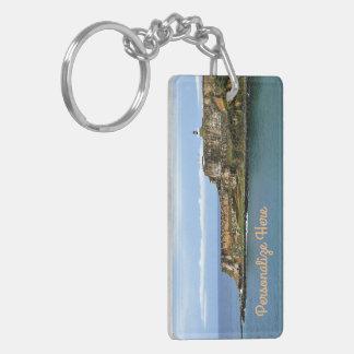 Gr Morro die San Juan Bay Personalized bewaakt Sleutelhanger