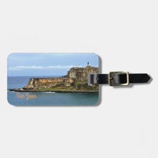 Gr Morro die San Juan Bay Personalized bewaken Bagagelabel