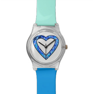 Graffiti Heart (blue) Polshorloge
