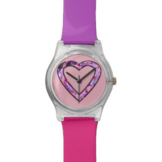 Graffiti Heart (pink) Horloge