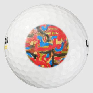 Graffiti in de zolder-Abstracte Penseelstreken Golfballen