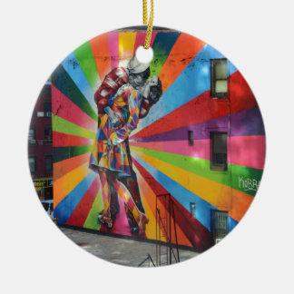 Graffiti van New York Rond Keramisch Ornament