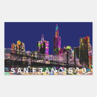 Graffiti van San Francisco Rechthoekige Sticker