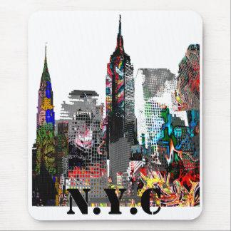 Graffitihorizon van de Stad van New York Muismatten