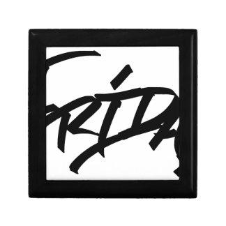 Graffitilabel van de vrijdag decoratiedoosje