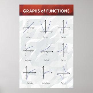 Grafieken van Functies - het Poster van de