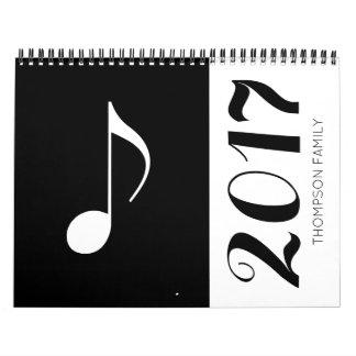 grafisch & koele muzieknota's kalender