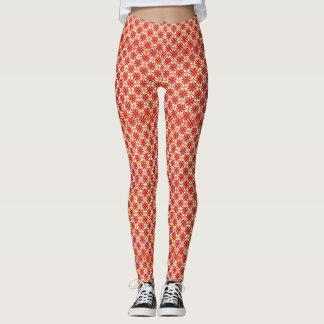 Grafisch Oranje Ontwerp Leggings